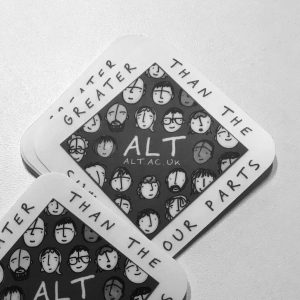 Image of ALT laptop stickers